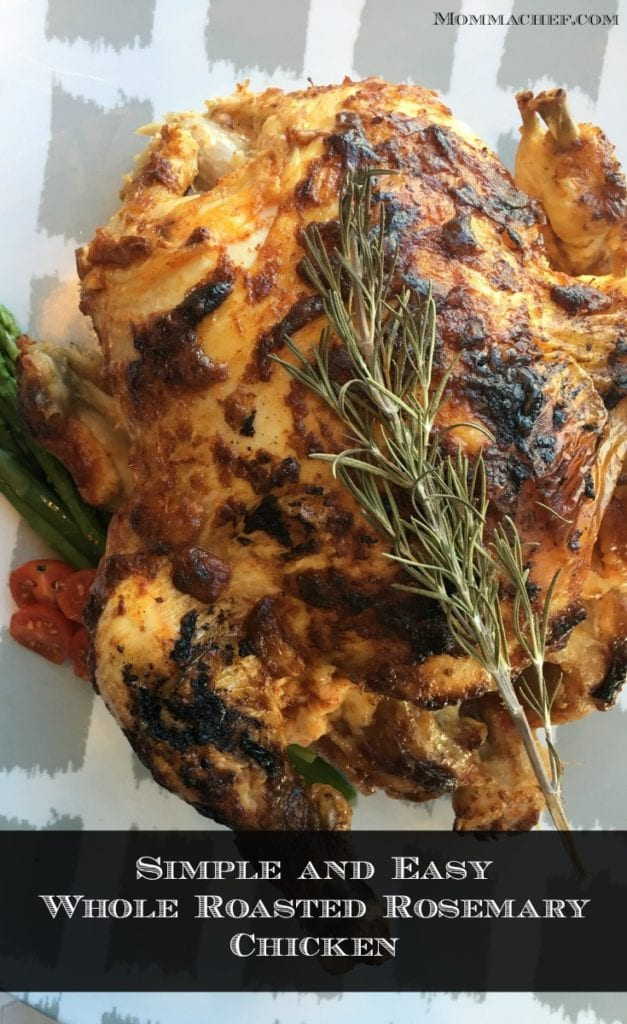 Quick and Easy Kid-Approved Whole Roasted Rosemary Chicken Recipe