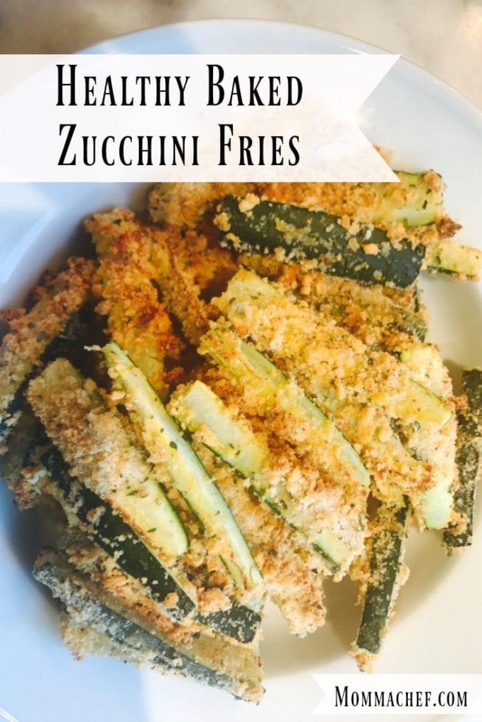 Quick Easy Healthy Baked Zucchini Fries Recipe by Momma Chef