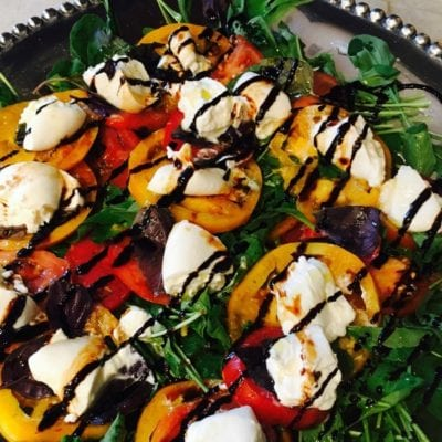 5-Minute Caprese and Arugula Salad