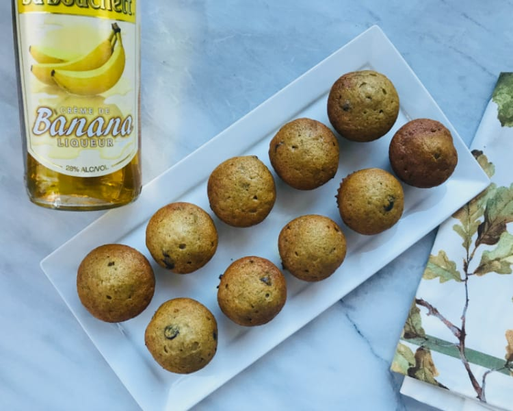 Quick and Easy Banana Liqueur Muffins