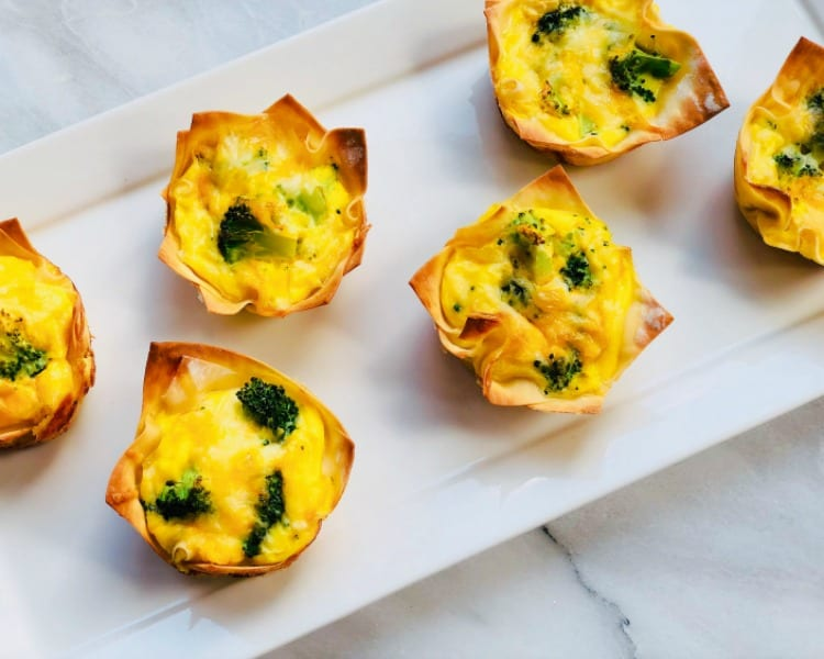 Easy Breakfast Egg Muffins in Wonton Wrapper
