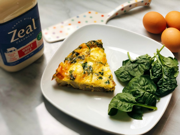Quick and Easy Potato and Spinach Frittata