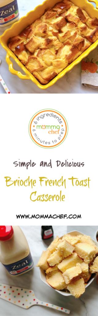 Quick and Easy Brioche French Toast Casserole